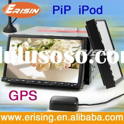 Erisin 7 inch double din car dvd with gps radio tv bluetooth