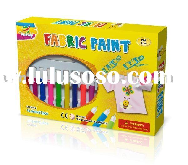 Fabric paint color for children to draw