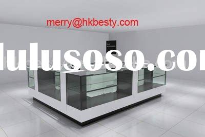 Famous jewelry kiosk display showcase retail Store