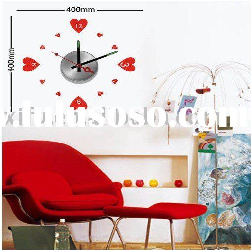 Fashion Waterproof PVC Wall Stickers Clock Modern Design,DIY Art Wall Hanging Clocks Mechanism