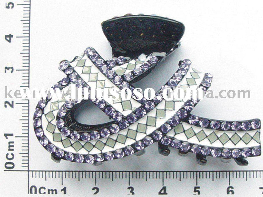 Fashion hair jewelry,hair barrettes,alloy hair clips accessory