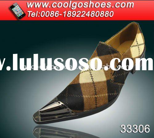 Fashion italian style men iron tip dress shoes made in Guangzhou