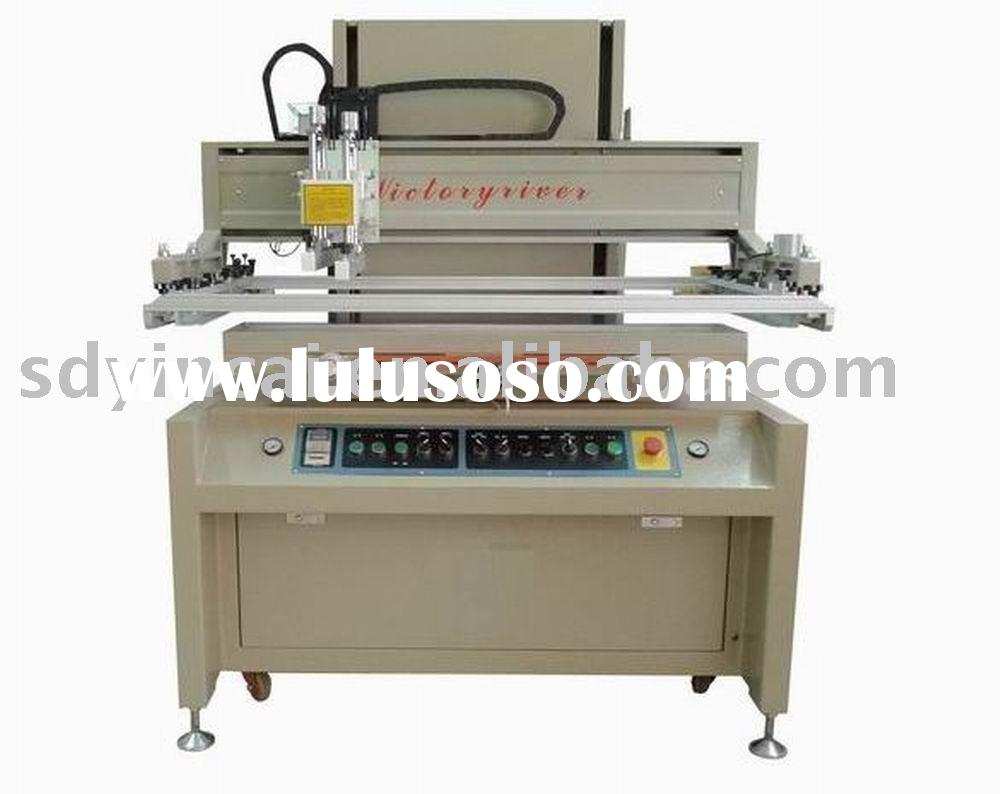 Glass pneumatic-driver semiautomatic silk screen printing equipment