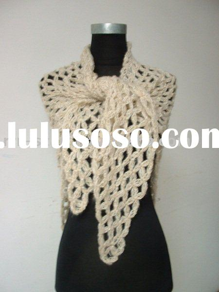 Hand knitted Crochet Scarf