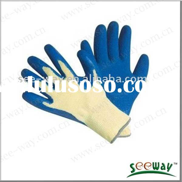 High quality latex coated kevlar cut resistant glove