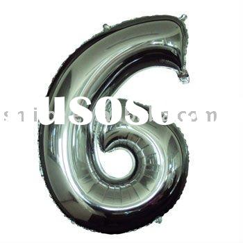 Huge Number Foil Balloon;Number six balloon;#6 mylar balloon