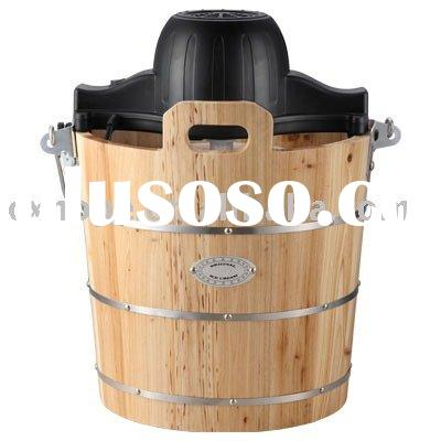 Ice Cream Maker(Wooden bucket ice cream maker with hand crank)