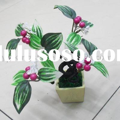 Indoor bonsai ,artificial tress bonsai,mini plant,can flower