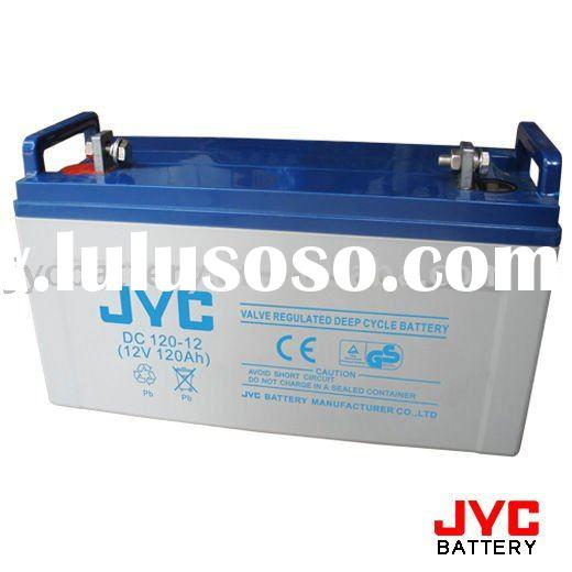 JYC DC 120-12 (12V 120AH) (deep cycle battery for ups,solar,wind power)