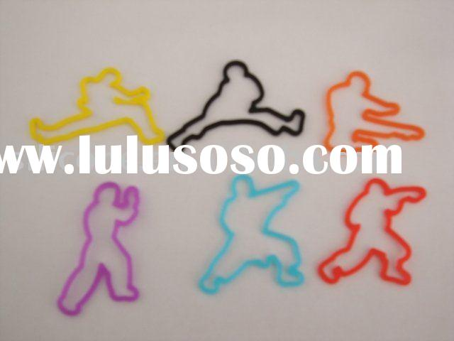 Karate shaped silicone rubber bands