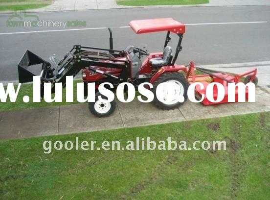 LZ304,30HP, 4WD tractor fit with front end loader, slasher mower, mini garden tractor 4in1 loader