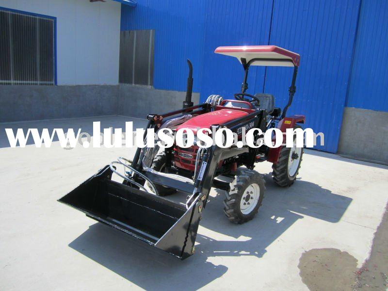 LZ304 mini Tractor with 4in1 bucket Front end loader and Backhoe, tractor attachments