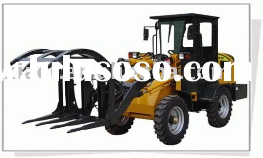 Loader with grapple fork