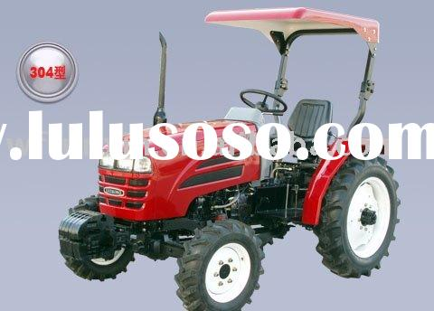 Luzhong tractor with front end loader and backhoe
