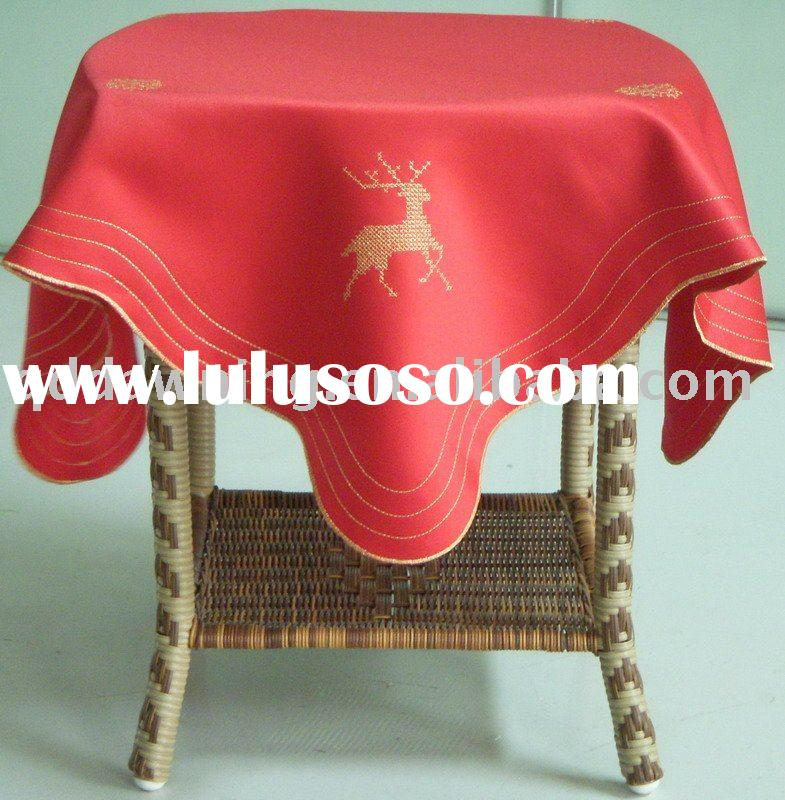 Machine Embroidery Christmas Tablecloth Table Linen Table Cover Table Cloth