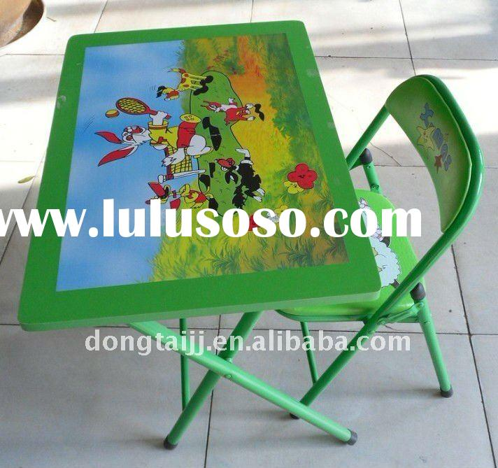 Metal Kids Folding Table and Chair Set