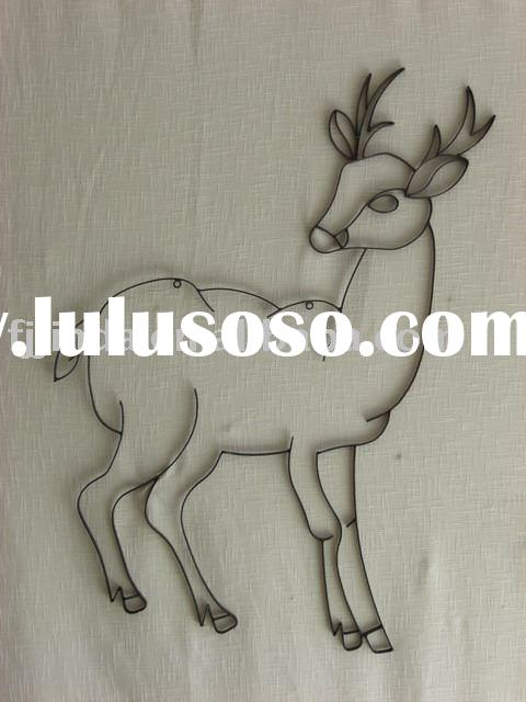 Metal deer wall decor.,Iron wall art,metal wall hanging