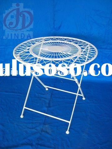 Metal folding table,round table;Metal garden folding table