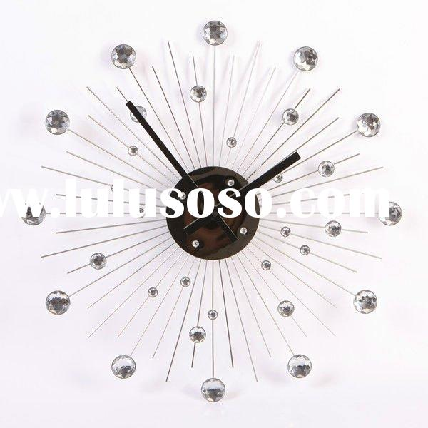 Modern Arts Crafts Wall Clock Round Wall Clock Home Decorative Wall Clock Big Quartz Wall Clock