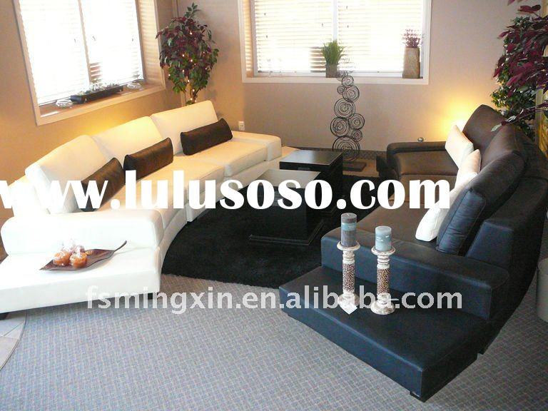 Modern Design Living Room Furniture Sectional Leather Sofa set MX-9042