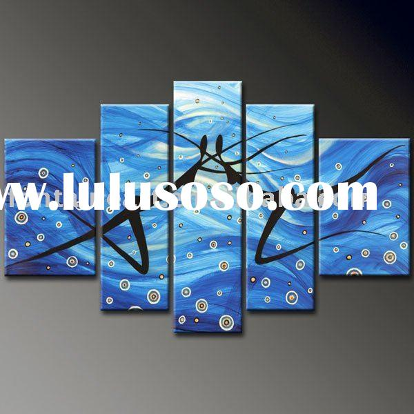 Modern Group Abstract Dancers Art Painting (5 panels)