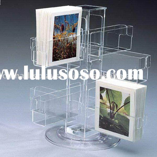 Multi-tier acrylic brochure stands, acrylic brochure display stand/rack, acrylic literature holder/