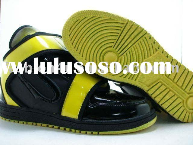 NWT Fashion Mens Sport Shoes Sneaker High Top Black/Yellow