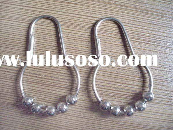 Nickel-plated Shower Curtain Hooks