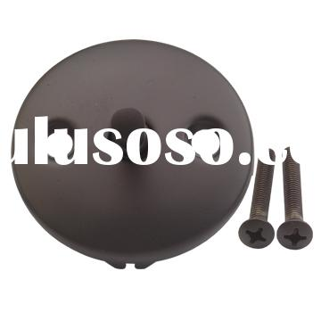 Oil Rubbed Bronze Bathtub Drain Trip Plate with Spring Clip Mechanism