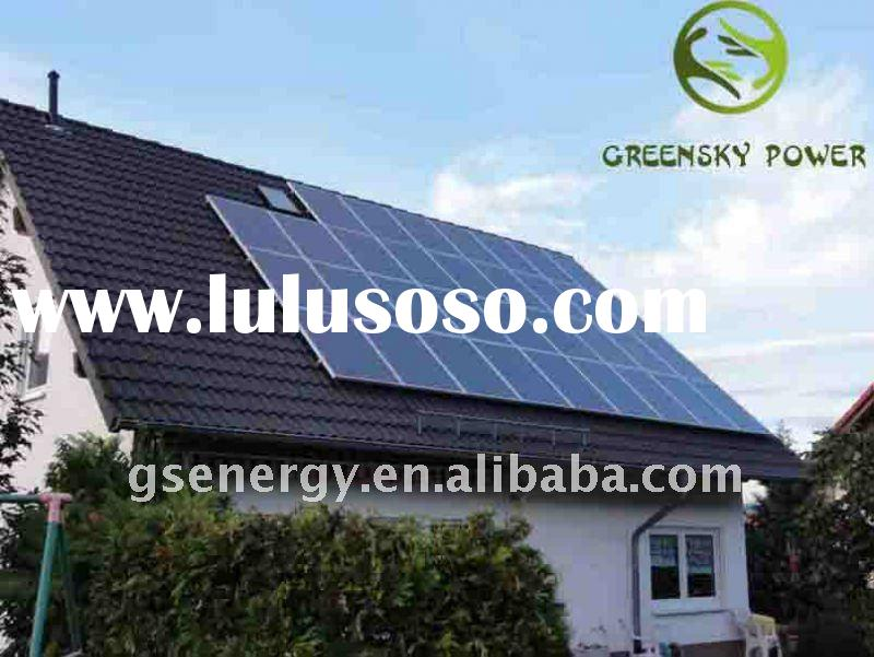 PV solar panels for home use and inverter