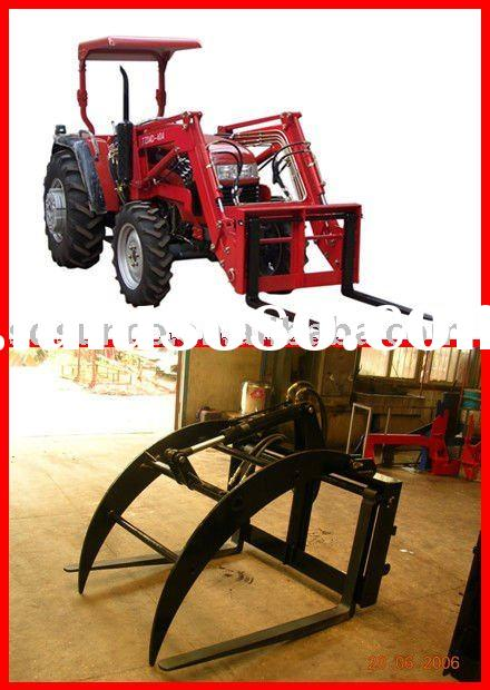 Pallet Fork Loader on Farm Tractor
