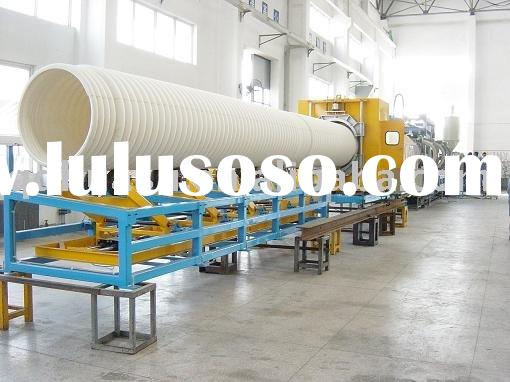 Plastic Pipe Machinery_UPVC Double Wall Corrugated Pipe Production Line