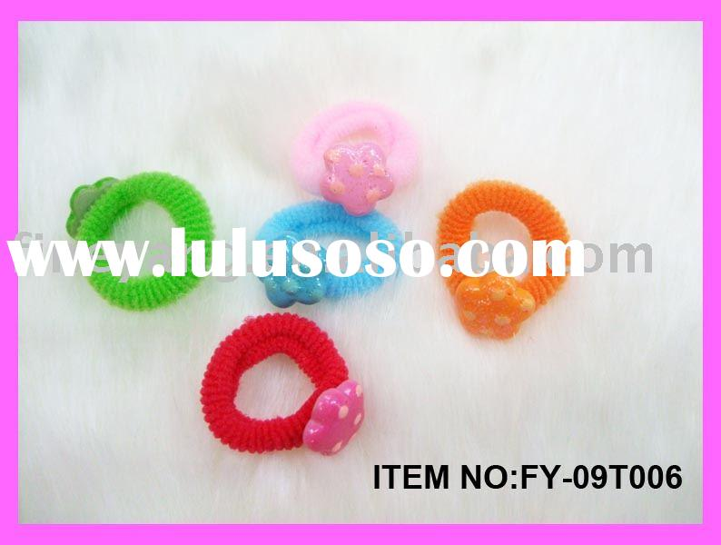 Ponytails/Ponytail holder/Hair attachment/Hair string/Beaded ponytail/Elastic ponytail