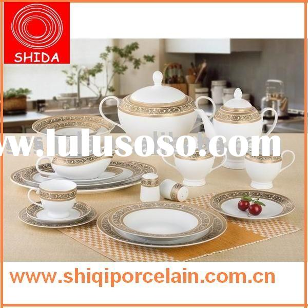 Porcelain dinnerware, porcelain tableware