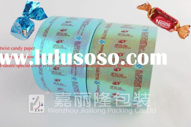 Rainbow film twist wrapping paper for candy packing