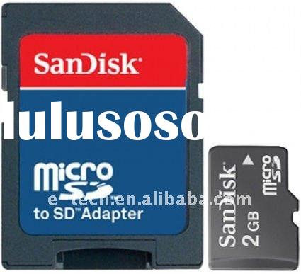 Sandisk Micro SD 2GB card Original SanDisk Memory Card 2GB (SanDisk micro sd card) w/adapter Mobile