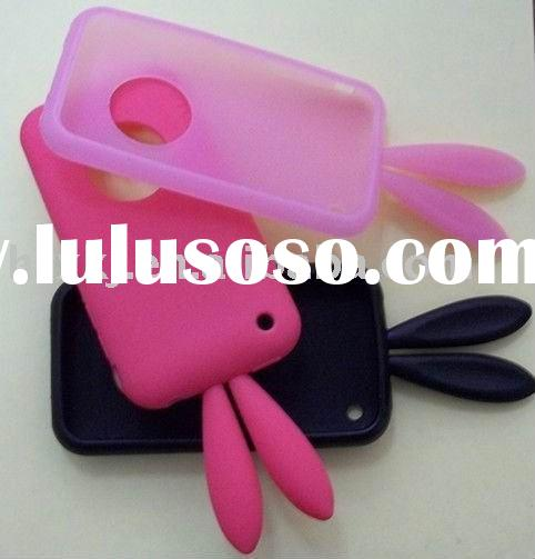 Silicone Birthday Rabbit Skin Back Case for iPhone 3G