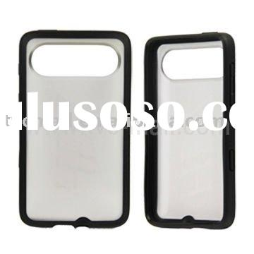 Simple Design Gel TPU & Plastic Bumper Case Cover for HTC HD7(HD3)