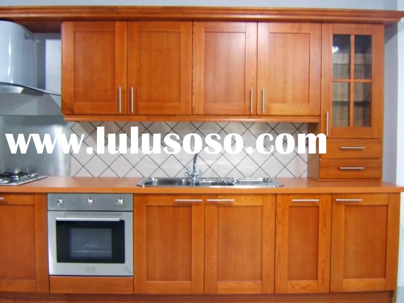 Small Solid Wood Kitchen Cabinets for Hotel Project