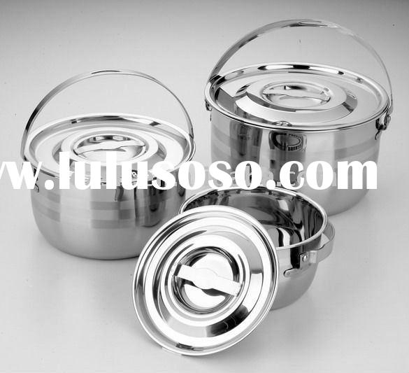 Stainless Steel Camping Pots/Stock Pots