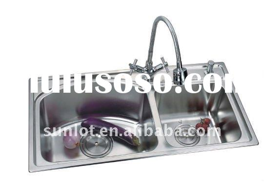 Stainless Steel Kitchen Sink With Double Bowl (LD7013)