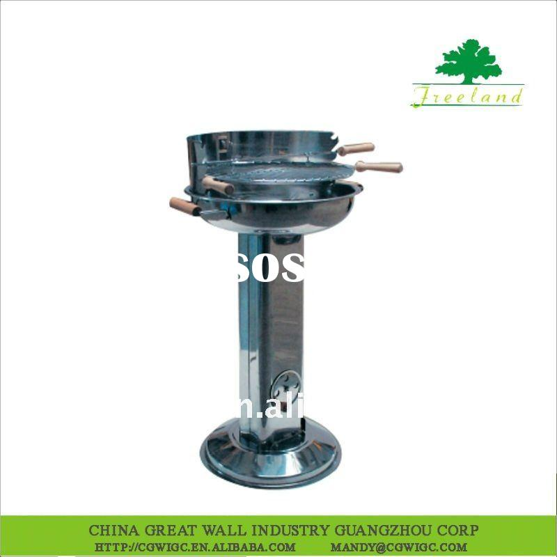 Stainless Steel Round and Stand BBQ