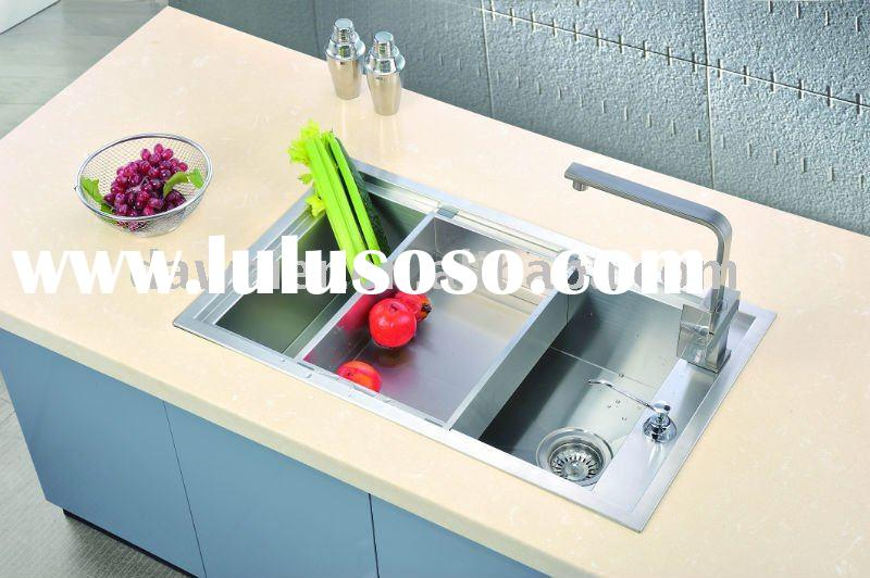 Stainless Steel Square Single bowl Kitchen sink - F6639