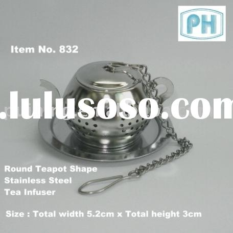 Stainless Steel Teapot Shape Tea Infuser with drip plate
