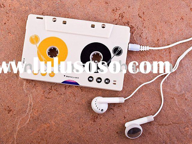 Tape Cassette Adapter Car MP3 Player SD/MMC Card Reader HQ2