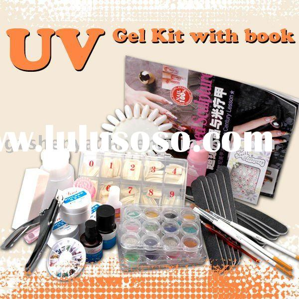 UV Gel XXXL Full Set Manicure Kits With Nail Art Book