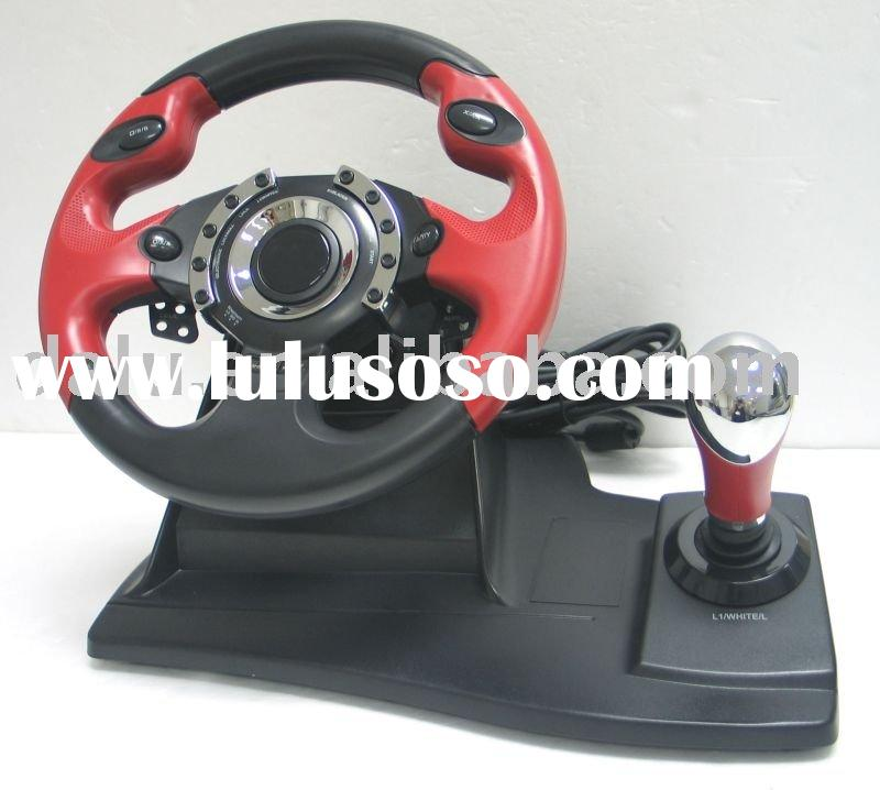 Video Game Accessory YP2/YP3/YPU-W07 Steering Wheel for PS2/PS3/PC/XBOX