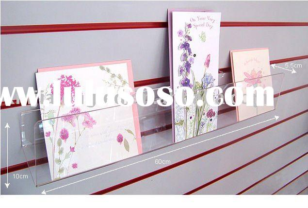 Wall Mounted Acrylic Card Display Stand Acrylic Card Display Rack