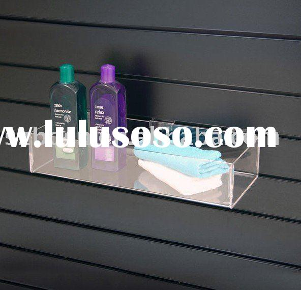 Wall Mounted Acrylic Display Shelf,Plexiglass Sanitary Stand,Lucite Cosmetic Organizer