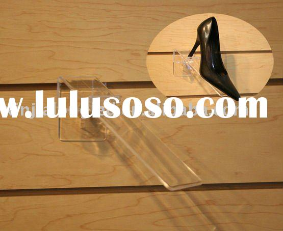 Wall Mounted Acrylic Shoes Display Stand Shoes Rack